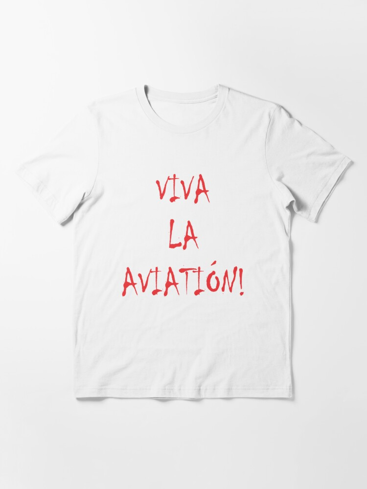 Alternate view of Model 32 - Viva La Aviation Essential T-Shirt