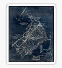 267 Topographic map of the Vesuvius Furnace Iron Estate Rockbridge Co Va 8 000 acres Inverted Sticker