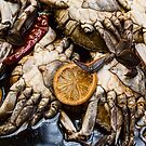 Marinated Fresh Crabs At The Market by Bo Insogna