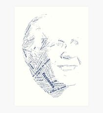 Jorge Luis Borges - Word Collage with +100 Works Art Print