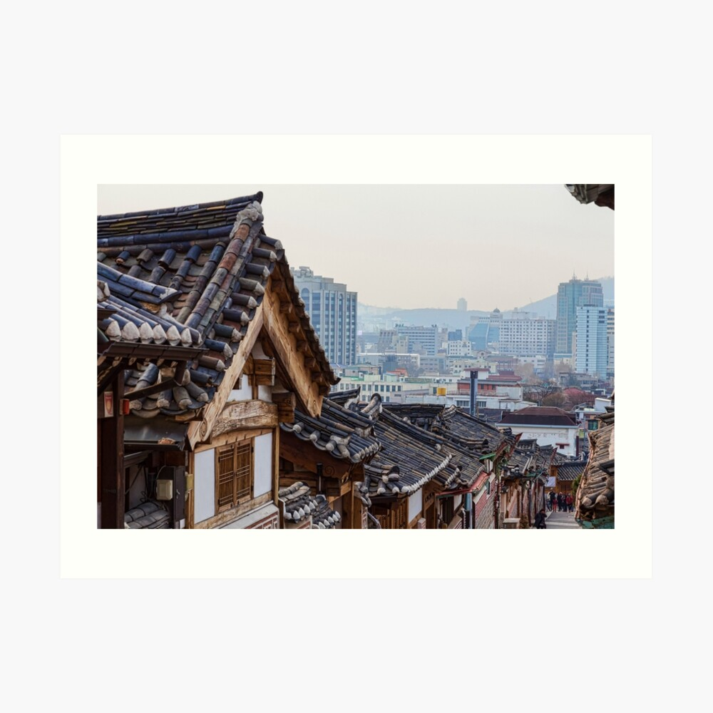 Seoul Korea Old and New Art Print