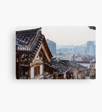 Seoul Korea Old and New Metal Print