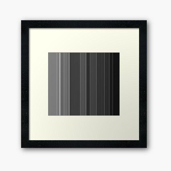 Soft elegance gray Framed Art Print