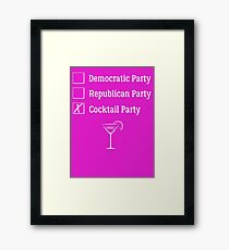 Democratic Republican Cocktail Party T Shirt Framed Print