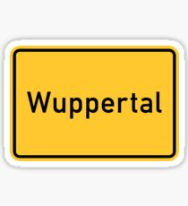 Wuppertal, Road Sign, Germany Sticker