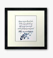 The Traveler's Blessing (May We Meet Again) Framed Print
