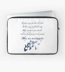 The Traveler's Blessing (May We Meet Again) Laptop Sleeve