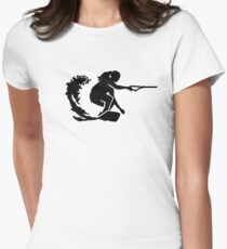 Wakeboard woman Women's Fitted T-Shirt