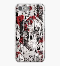 Melt down grunge rose skull iPhone Case/Skin
