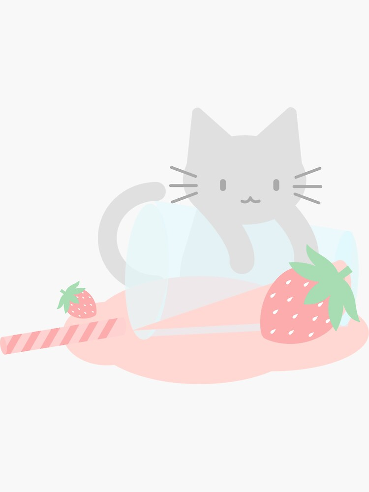 Strawberry Cute Kittea by lucidly