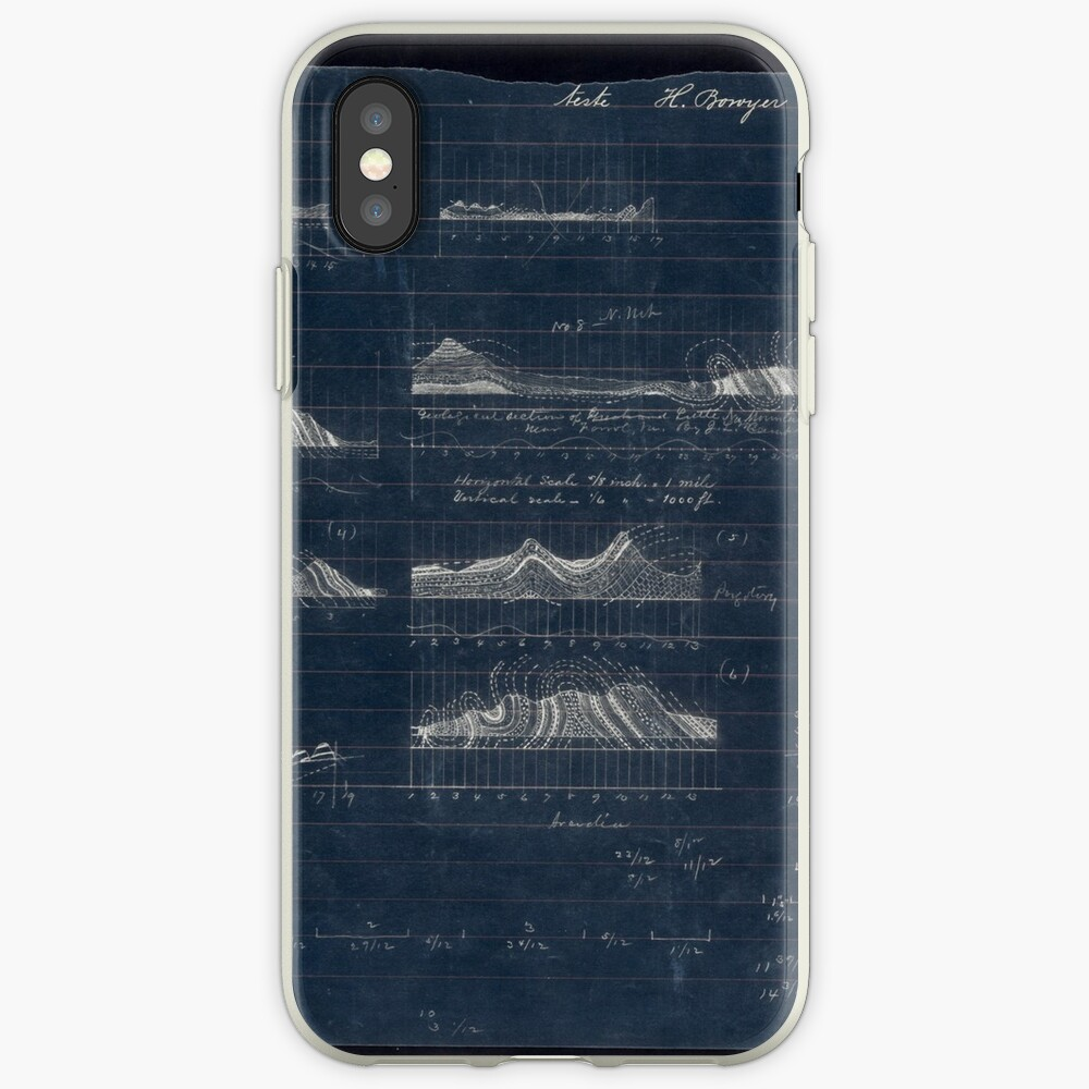 148 Geological section of Great and Little No Mountains near Ferrol Va Inverted Funda y vinilo para iPhone