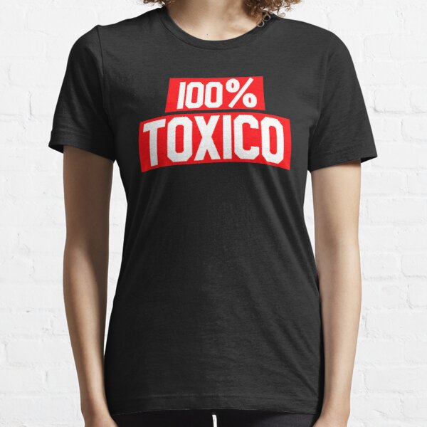 100% Toxico Red and White Typography Spanish Saying Essential T-Shirt