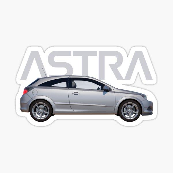 White Vinyl Wall Art Sticker Vauxhall Astra MK5 Van