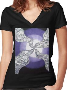 Psychedelia 3 Women's Fitted V-Neck T-Shirt
