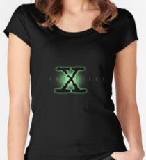 The X Files Logo Women's Fitted Scoop T-Shirt