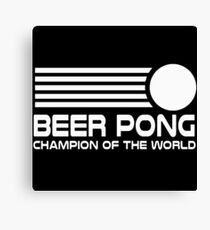 beer pong humorous Canvas Print
