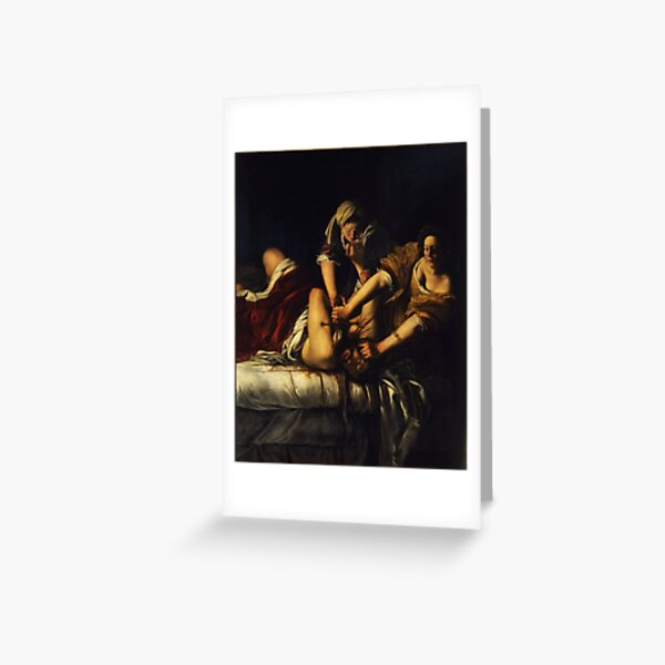 Judith Slaying Holofernes by Artemisia Gentileschi Greeting Card
