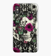 Victorian Gothic Lace skull iPhone Case