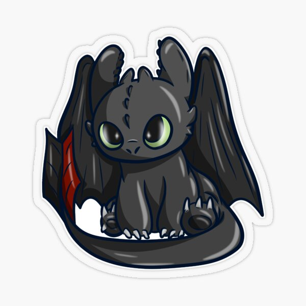 Petit Dragon Sticker transparent