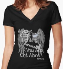 Supernatural Campaigns Women's Fitted V-Neck T-Shirt