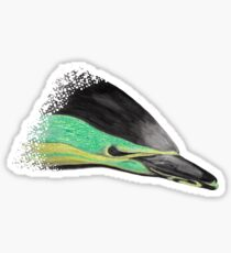 Common Dolphin (version green/yellow) Sticker