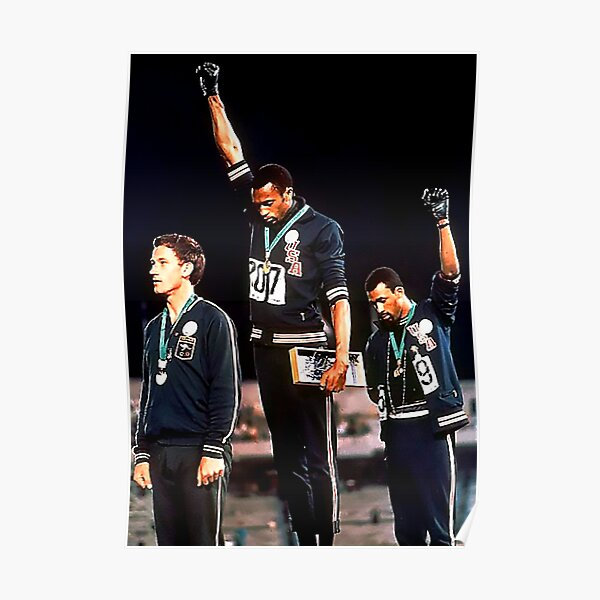 Black Power Salute Vintage 1968 Olympics Poster