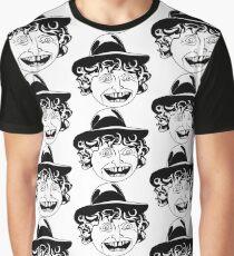 Tom Baker Black & White Portrait Graphic T-Shirt