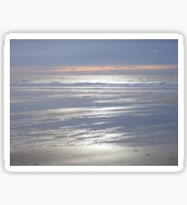 TRANQUIL SILVER BLUE CORNWALL BEACH WINTER SUNSET Sticker