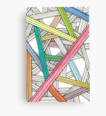 Colored Lines Canvas Print