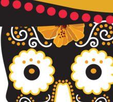 Crazy Mexican Skull Sticker
