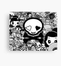 mikoto's Black & White Canvas Print