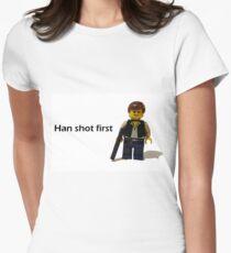 Han shot first Womens Fitted T-Shirt