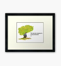 Calvin is a procrastinator Framed Print