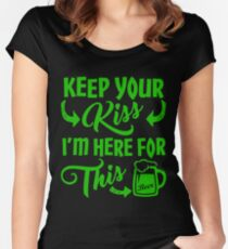 Funny St Patrick's Day Beer Drinking Humor Women's Fitted Scoop T-Shirt