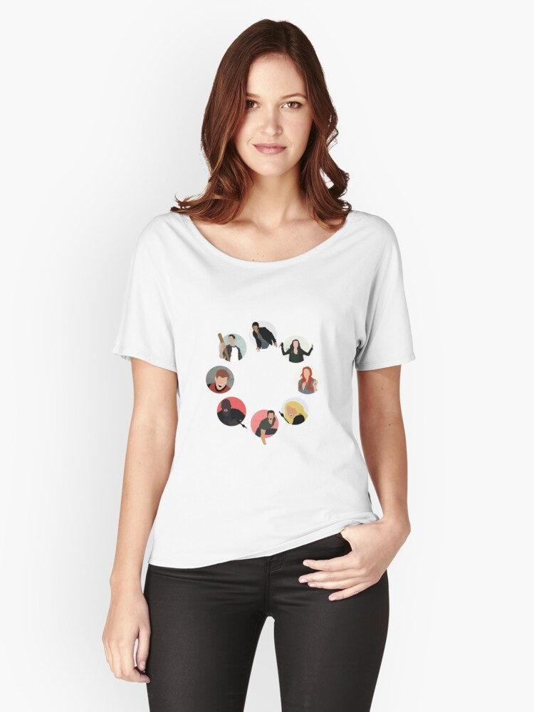 Teen Wolf Pack Graphic (Circles Only Version) Women's Relaxed Fit T-Shirt Front