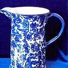 Blue and white stoneware jug by Shulie1