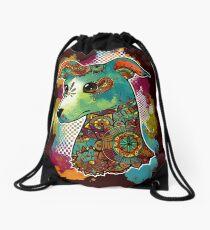 Bohemian Italian Greyhound Drawstring Bag