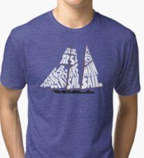Tops'l Schooner Sail/Spar Plan Tri-blend T-Shirt