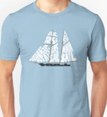 Tops'l Schooner Sail/Spar Plan T-Shirt