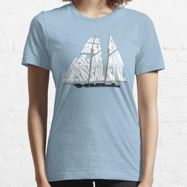 Tops'l Schooner Sail/Spar Plan Essential T-Shirt