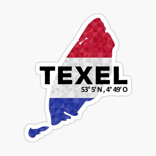 Texel Holland Insel Karte Sticker