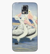 Pelicans Day at the Beach Case/Skin for Samsung Galaxy