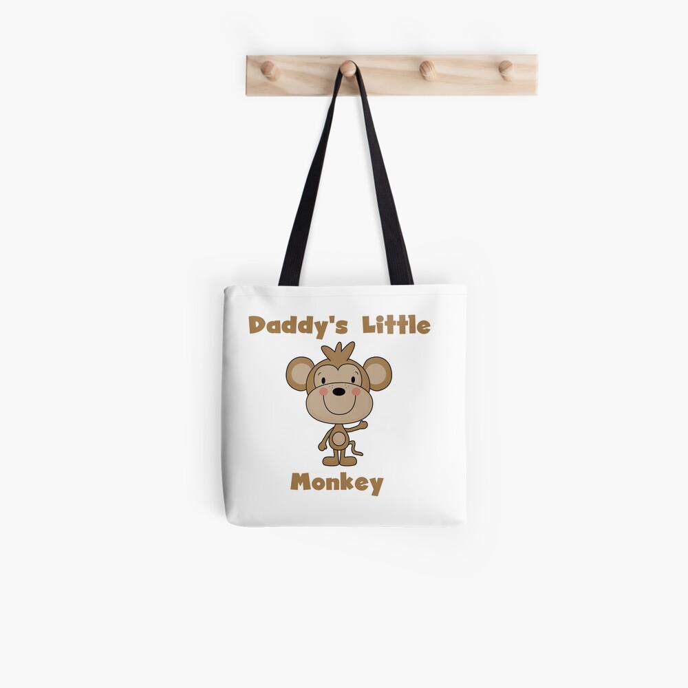 Kids Daddy's Little Monkey Tote Bag