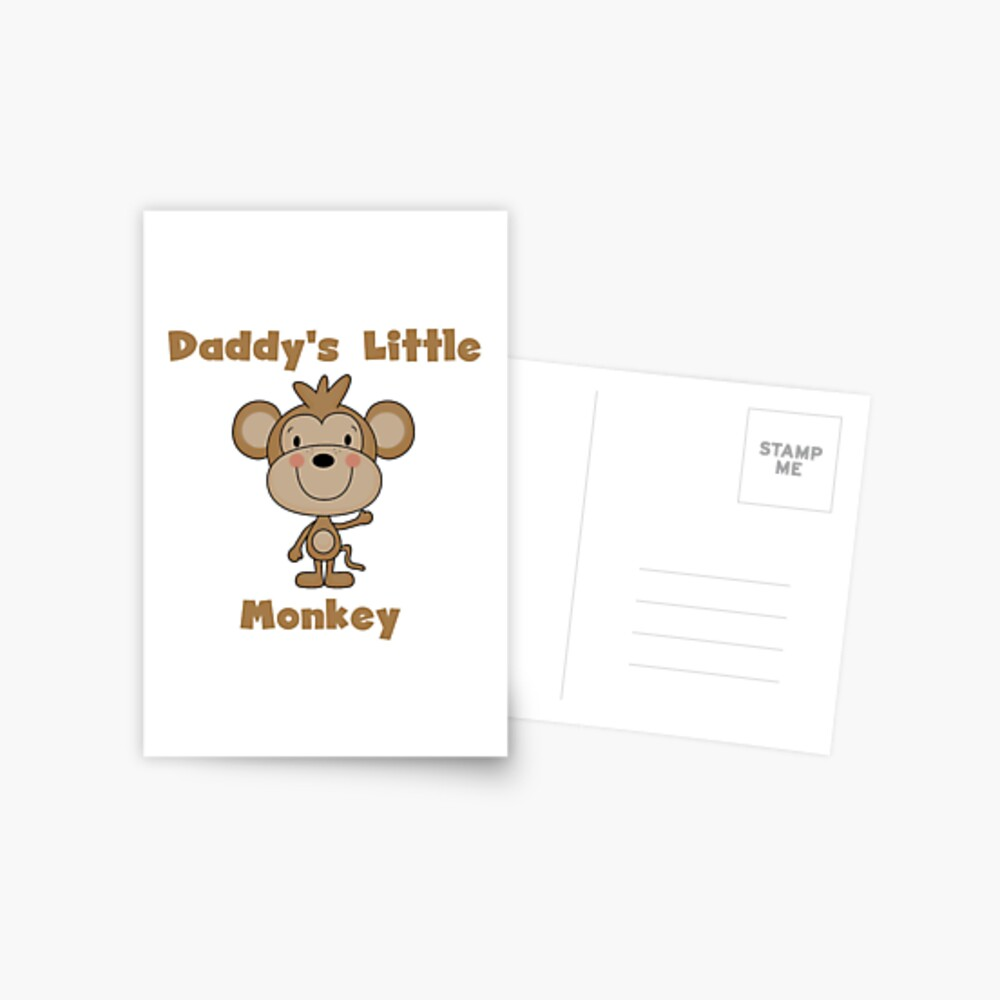 Kids Daddy's Little Monkey Postcard