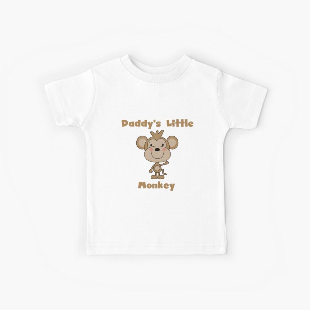 Kids Daddy's Little Monkey Kids T-Shirt