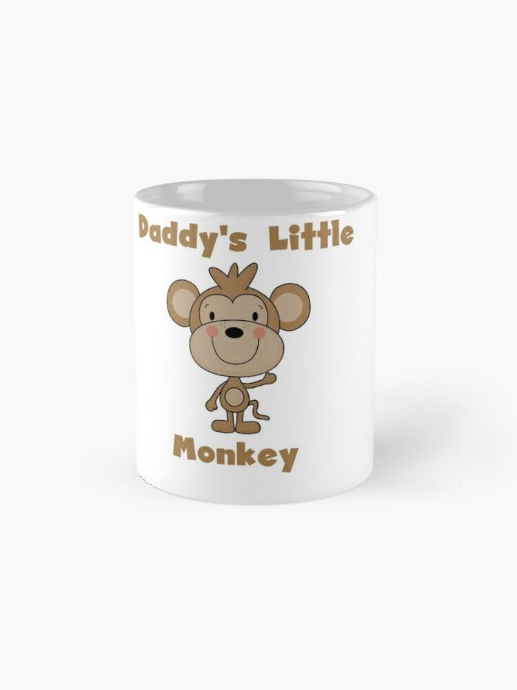 Alternate view of Kids Daddy's Little Monkey Mugs
