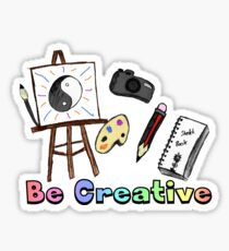 Be Creative Sticker