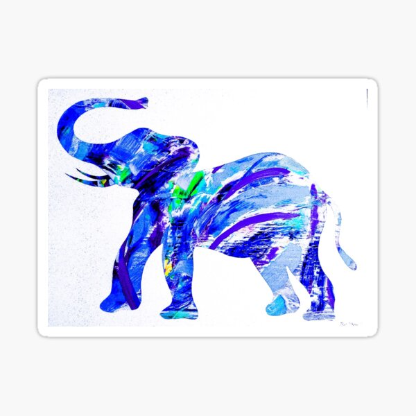 Happy Elephant 12 Sticker