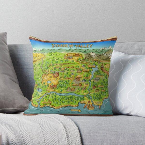 Stardew Valley Map Throw Pillow