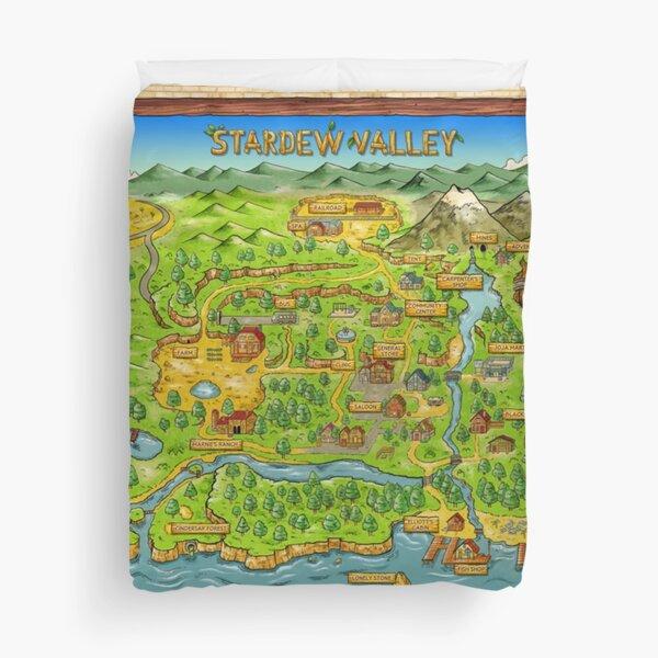 Stardew Valley Map Duvet Cover